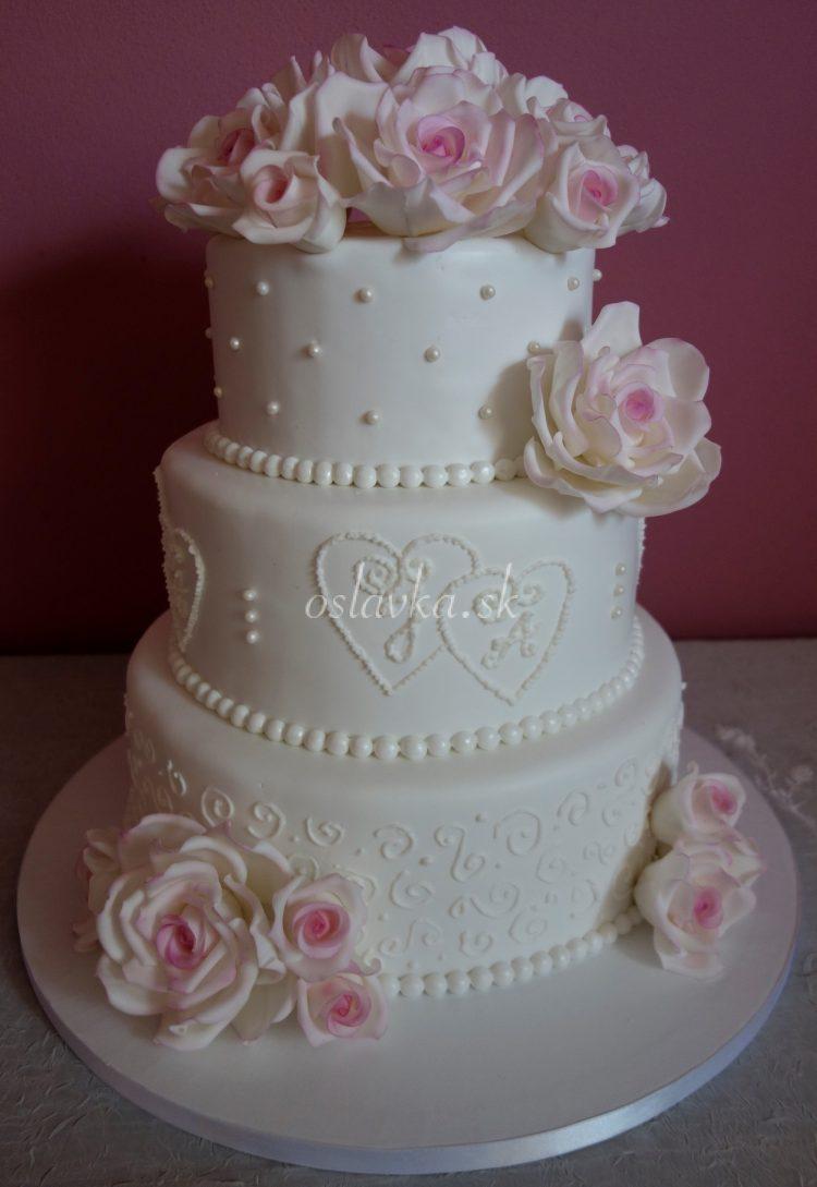 svadobná s ružami