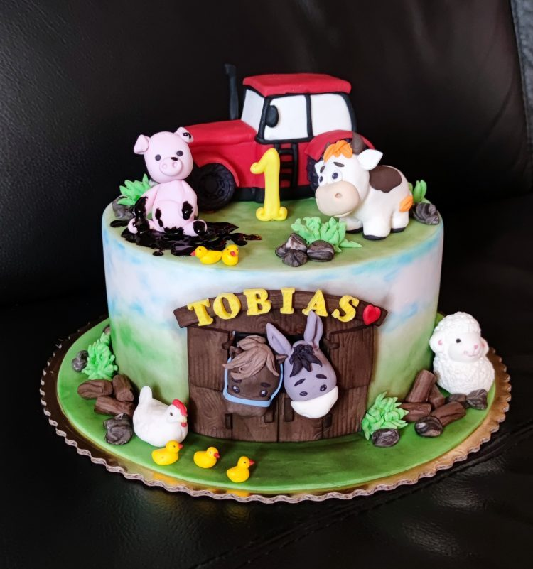 so zvieratkami a traktorom